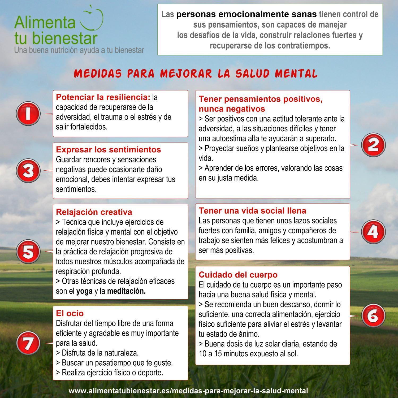 7 medidas para mejorar la salud mental