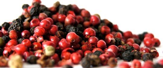 hierbas aromáticas y especias como la pimienta